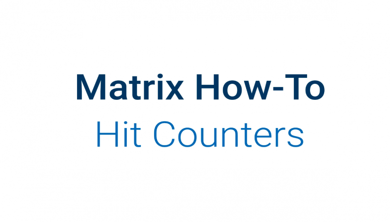 Hit Counters in Matrix
