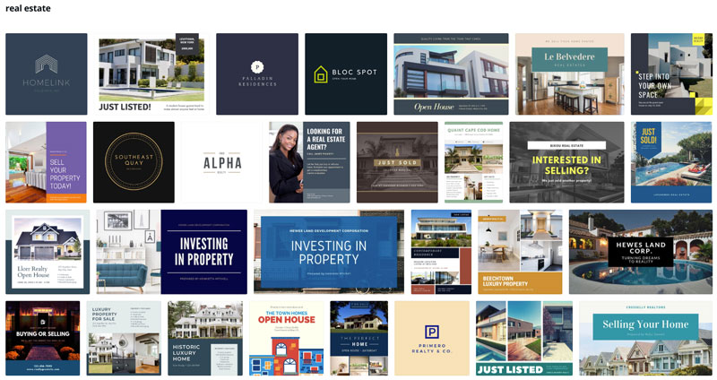 real estate Canva projects